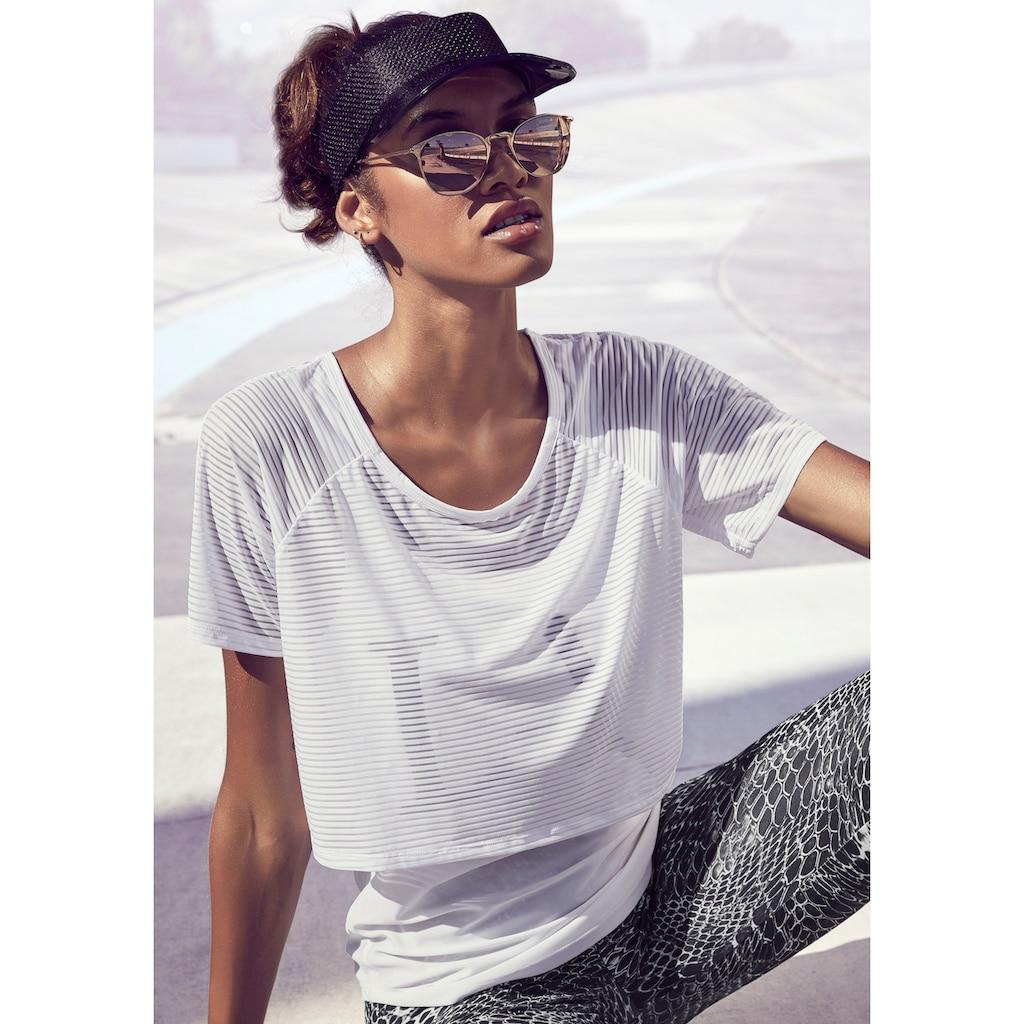 LASCANA ACTIVE 2-in-1-Shirt »Digital Mauve«, im Layer-Design