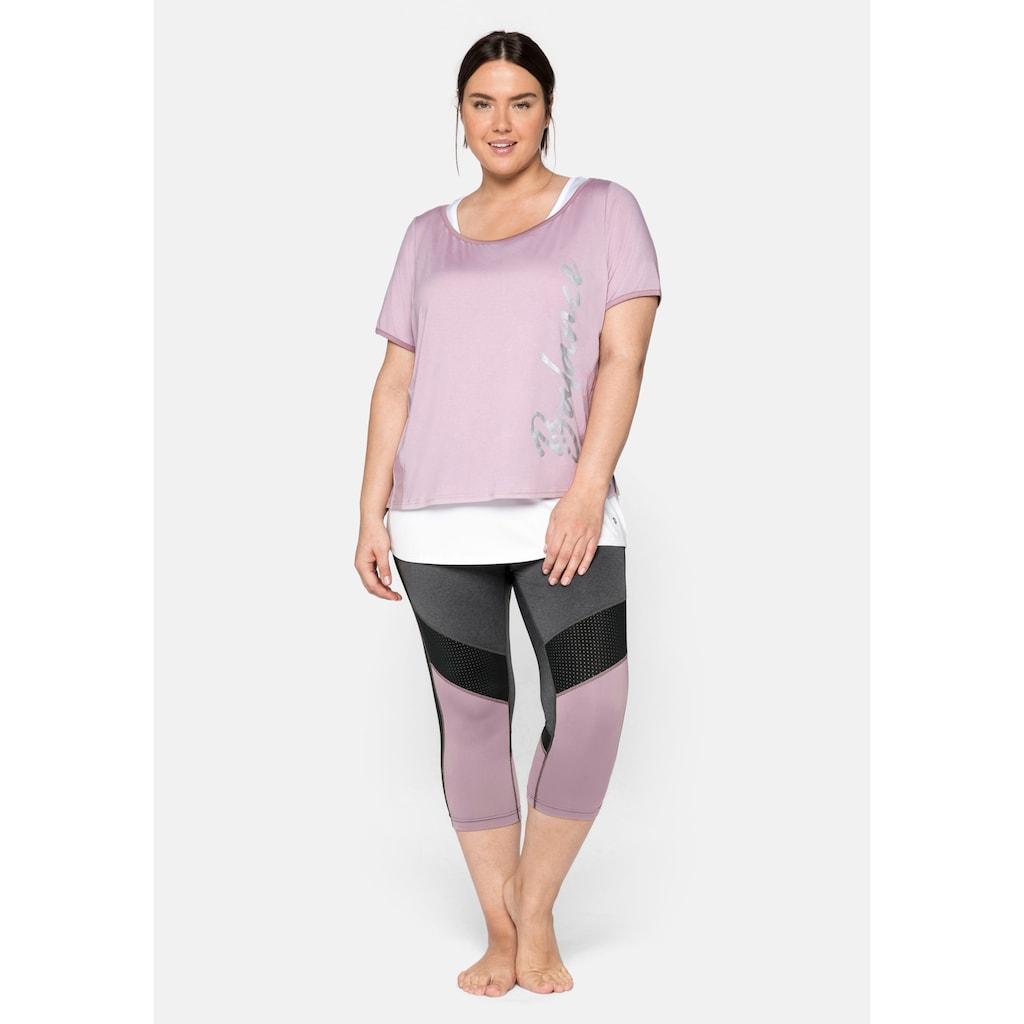Sheego Sporthose, atmungsaktiv und schnelltrocknend