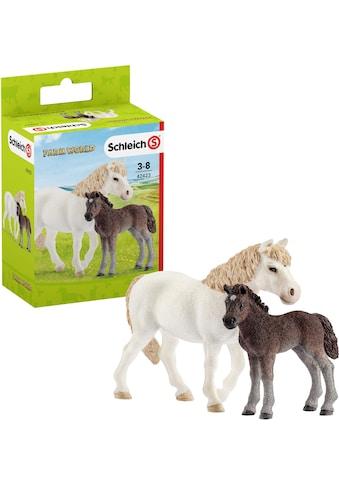 Schleich® Spielfigur »Farm World, Pony Stute mit Fohlen (42423)«, (Set) kaufen