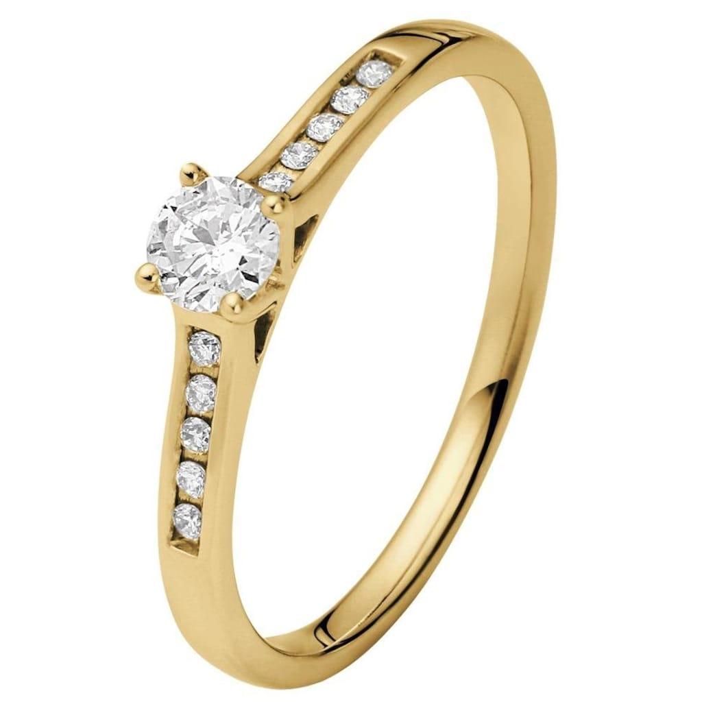 Firetti Diamantring »Verlobungsring«, mit Brillanten in Krappenfassung und Kanalfassung