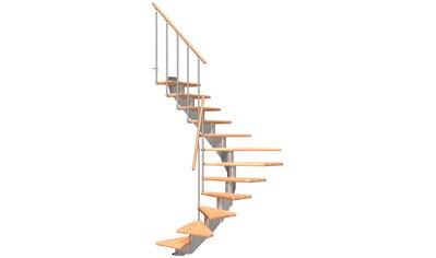 DOLLE Mittelholmtreppe »Hamburg Buche 75«, bis 279 cm, Metallgeländer, versch. Ausführungen kaufen