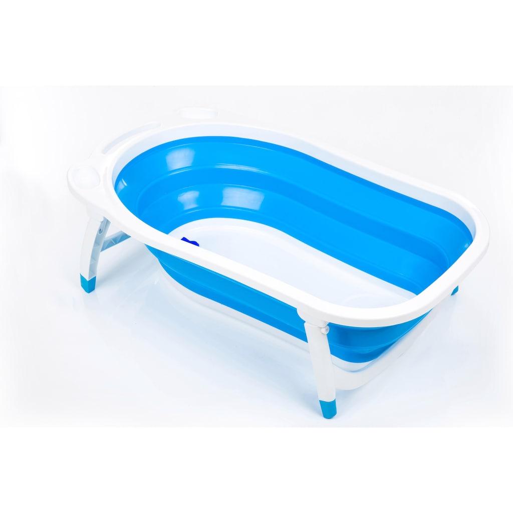 Fillikid Babywanne »Faltbadewanne, blau«, mit rutschfesten Füßen