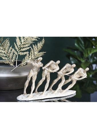 Casablanca by Gilde Dekofigur »Skulptur Contest, weiß/goldfarben«, Dekoobjekt, Höhe... kaufen
