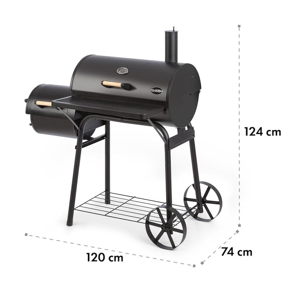 Klarstein Beef Brisket Smoker Grill Thermometer Räder schwarz