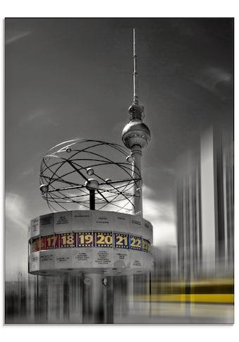 Artland Glasbild »Dynamische-Kunst Berlin Alexanderplatz«, Gebäude, (1 St.) kaufen