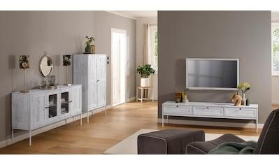 Home affaire Lowboard »Freya«, mit 3 Klappen, Metallgriffen, aus Massivholz, Breite... kaufen