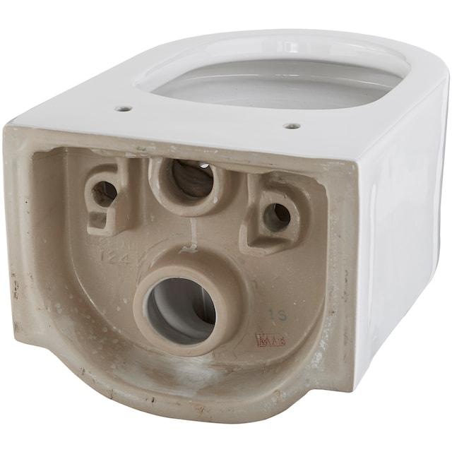 WELLTIME Wand-WC »Trento«, Toilette spülrandlos, inkl. WC-Sitz mit Softclose