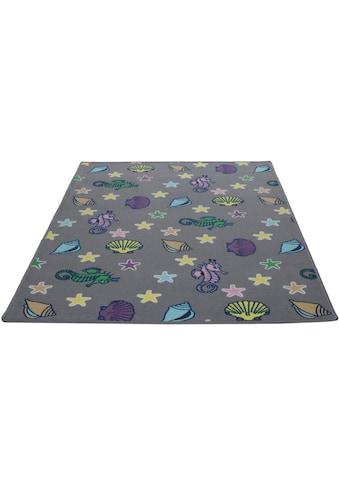 Kinderteppich, »Meereswelt Muschel«, Living Line, rechteckig, Höhe 7 mm, maschinell gewebt kaufen