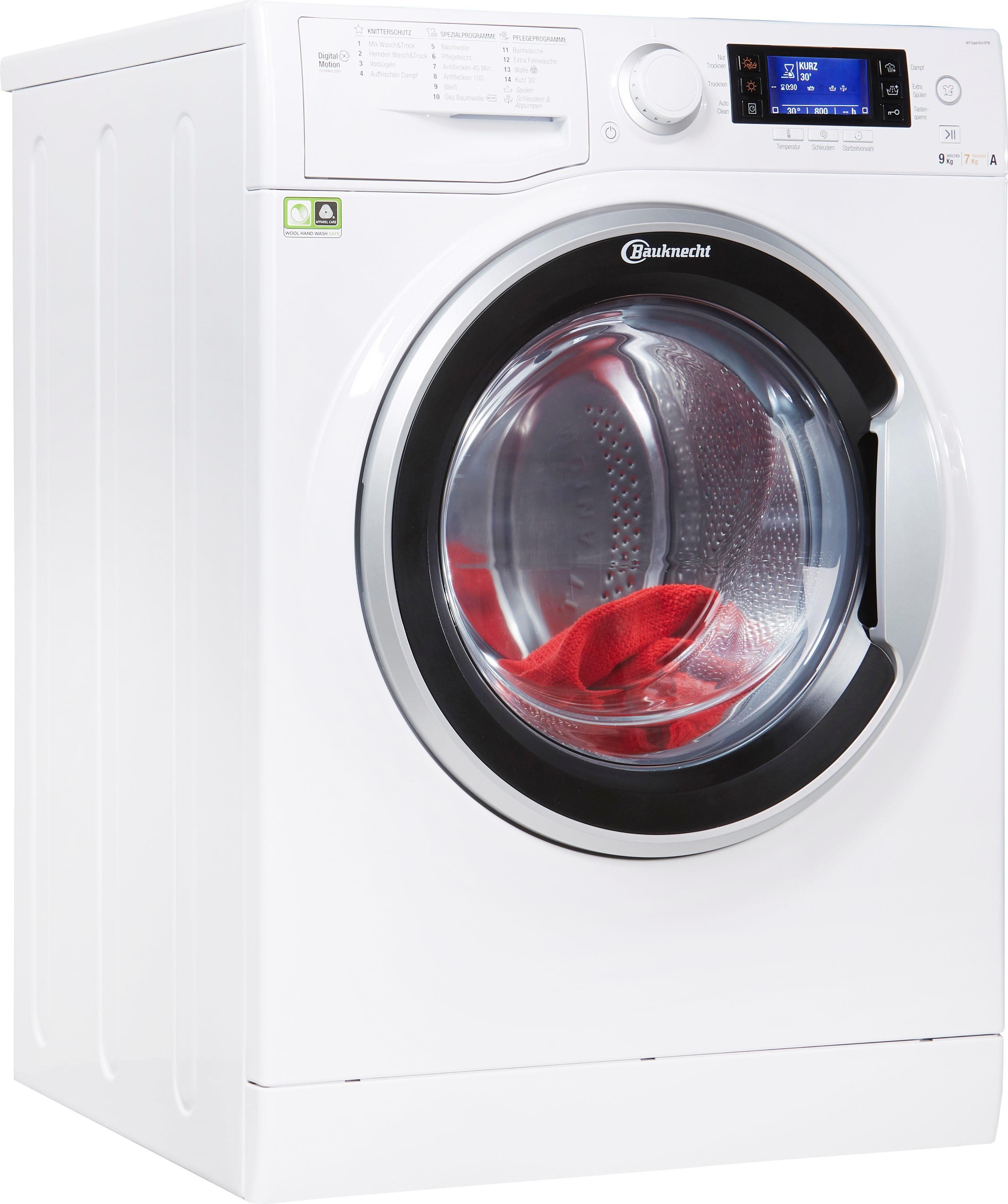 BAUKNECHT Waschtrockner WT Super Eco 9716, 9 kg / 7 kg, 1600 U/Min | Bad > Waschmaschinen und Trockner > Waschtrockner | Bauknecht