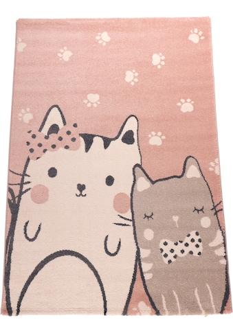 Kinderteppich, »Cats«, Living Line, rechteckig, Höhe 12 mm, maschinell gewebt kaufen