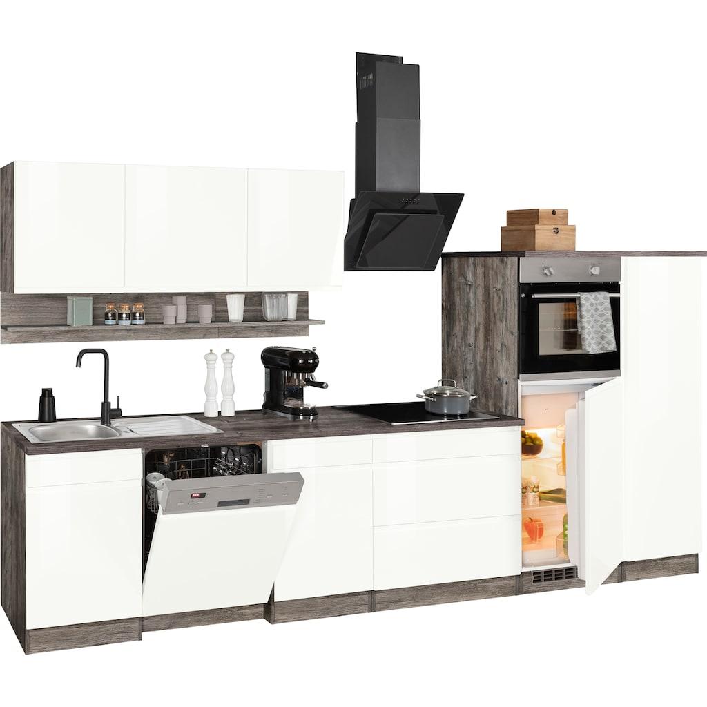 HELD MÖBEL Küchenzeile »Virginia«, mit E-Geräten, Breite 350 cm