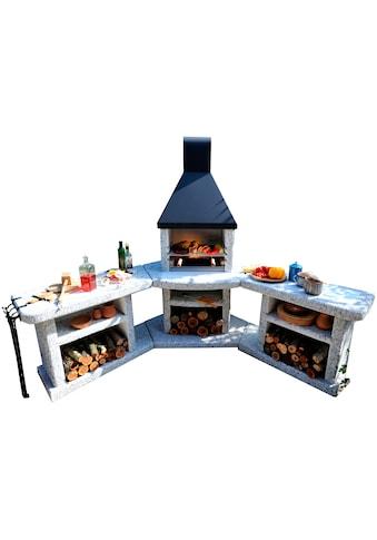 WELLFIRE Grillkamin »Außenküche Toskana Quatro«, BxTxH: 188x73x216 cm kaufen