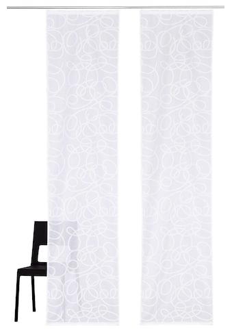 Schiebegardine, »Tanaro«, my home, Klettschiene 2 Stück kaufen