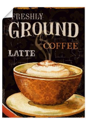 Artland Wandbild »Heutiger Kaffee III«, Getränke, (1 St.), in vielen Größen &... kaufen