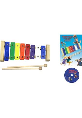 Clifton Spielzeug-Musikinstrument »Metallophon«, mit 8 Tönen und Kinderlieder CD, Karaoke CD mit Heft kaufen