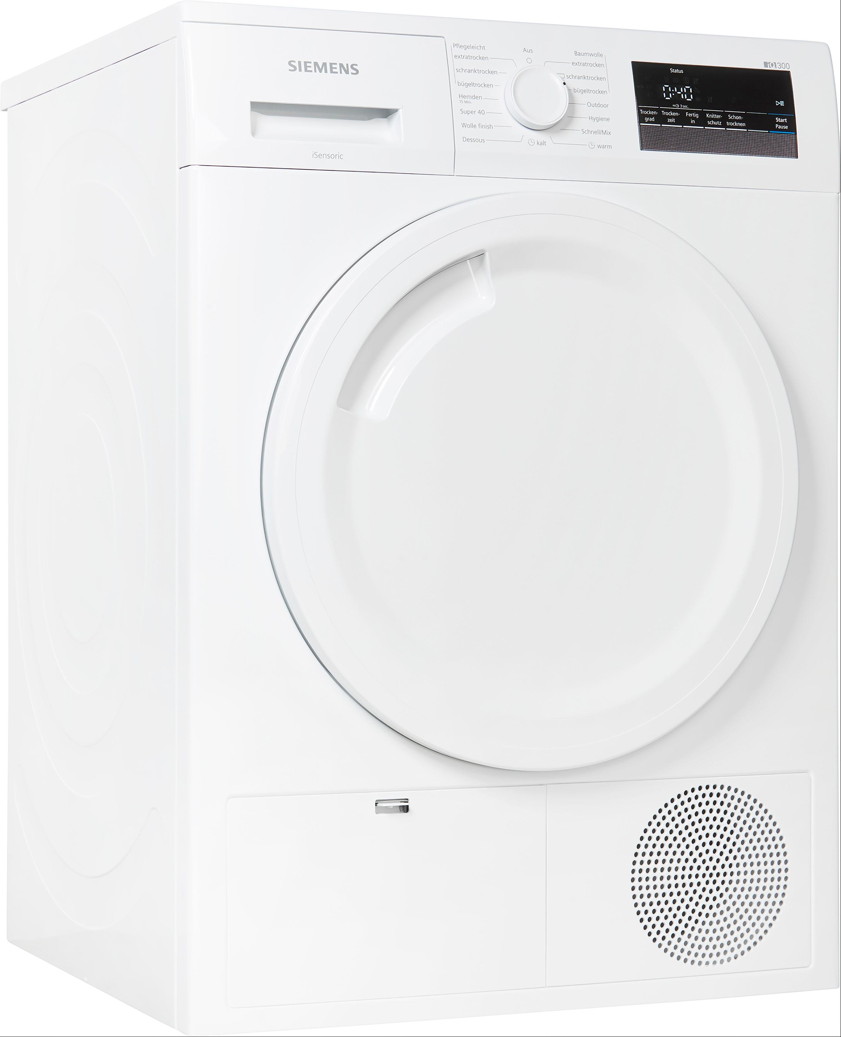 SIEMENS Kondenstrockner iQ300 WT43N202, 8 kg   Bad > Waschmaschinen und Trockner > Kondenstrockner   Siemens