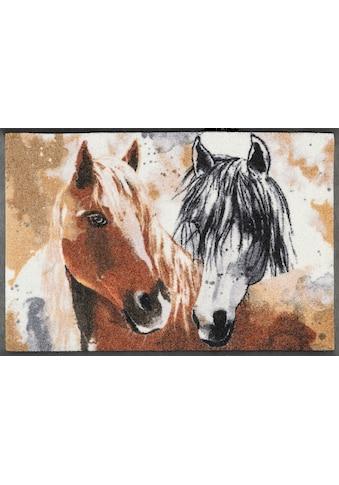 wash+dry by Kleen-Tex Fußmatte »Ginger & Beauty«, rechteckig, 7 mm Höhe,... kaufen