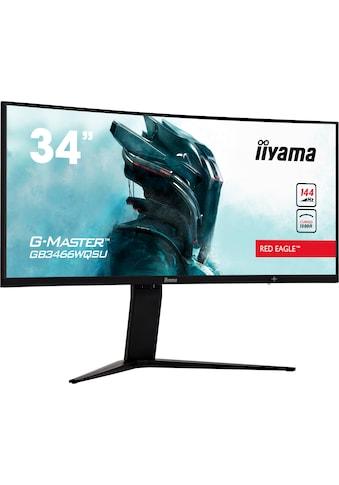 """Iiyama Curved-Gaming-LED-Monitor »G-MASTER GB3466WQSU-B1«, 86 cm/34 """", 3440 x 1440 px, UWQHD, 1 ms Reaktionszeit, 144 Hz kaufen"""