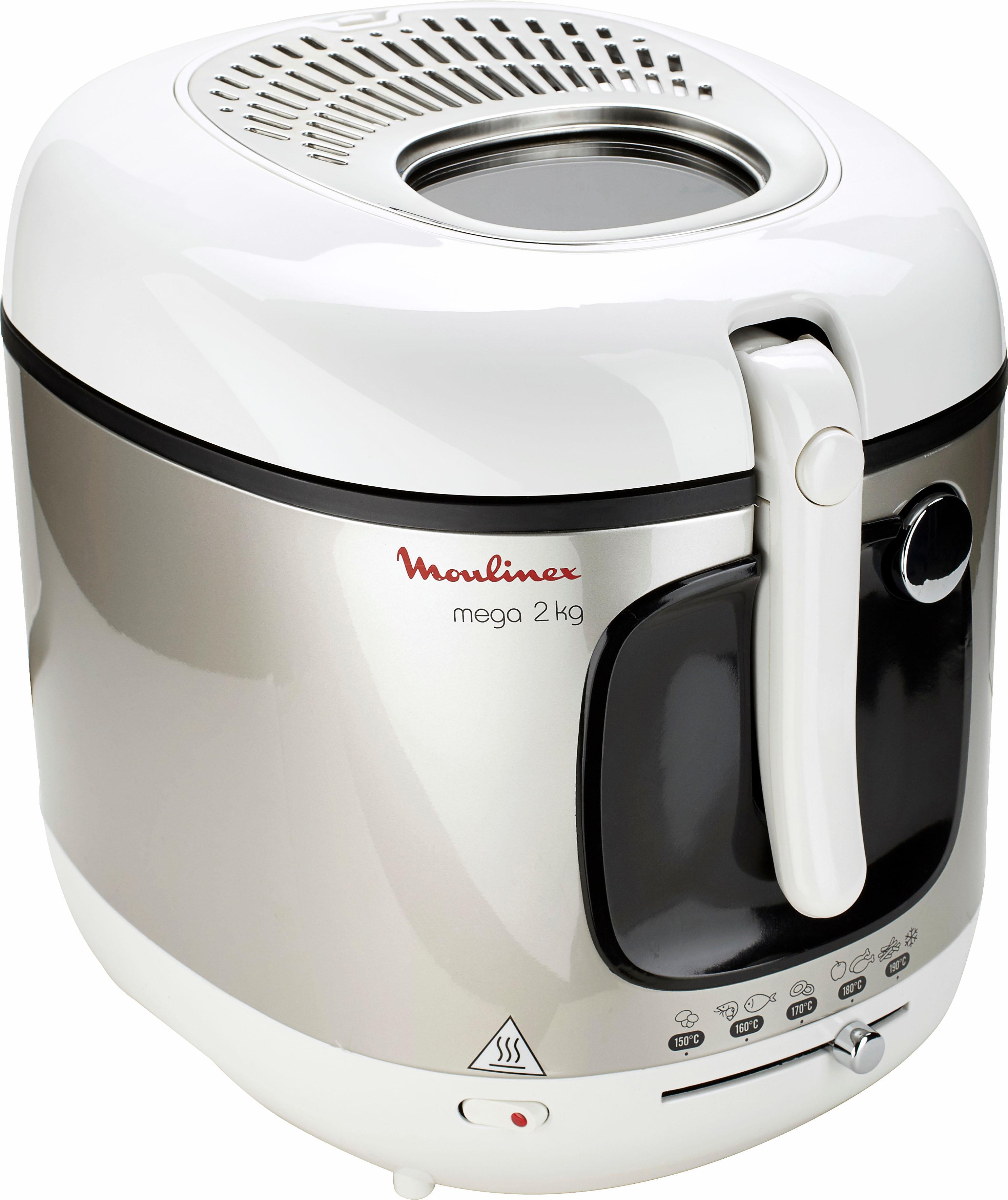 Moulinex Fritteuse Mega AM4800, 2100 Watt, Fassungsvermögen 3, 3 Liter | Küche und Esszimmer > Küchengeräte > Fritteusen | Moulinex