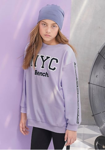 Bench. Sweatshirt, oversize - mit Logo-Print am Ärmel kaufen