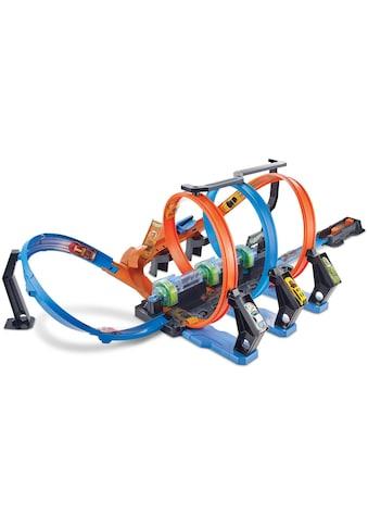 Hot Wheels Autorennbahn »Korkenzieher-CrashTrackset«, inklusive 1 Spielzeugauto kaufen