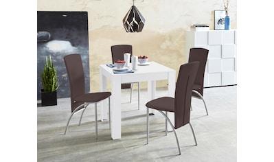 Essgruppe, (Set, 5 tlg.), Tischbreite 80 cm in weiß mit Struktur kaufen