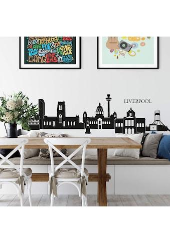 Wall - Art Wandtattoo »Stadt Skyline Liverpool 120cm« (1 Stück) kaufen