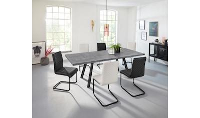 INOSIGN Esstisch »Brac«, in schöner Beton-Optik, Gestell aus Metall, in zwei verschiedenen Tischbreiten kaufen