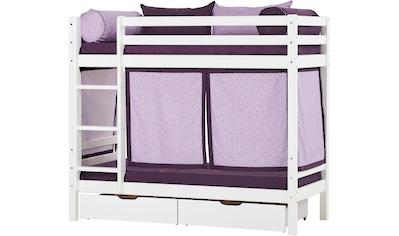 Hoppekids Etagenbett »Beautiful Bloom« (Set, 4 Teile, Bett, Vorhang und zwei Matratzen) kaufen