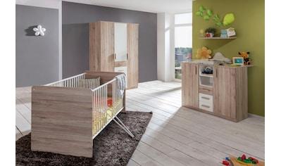 Babyzimmer-Komplettset »Bergamo«, (Set, 3 St.), Bett + Wickelkommode + 3 trg. Schrank kaufen