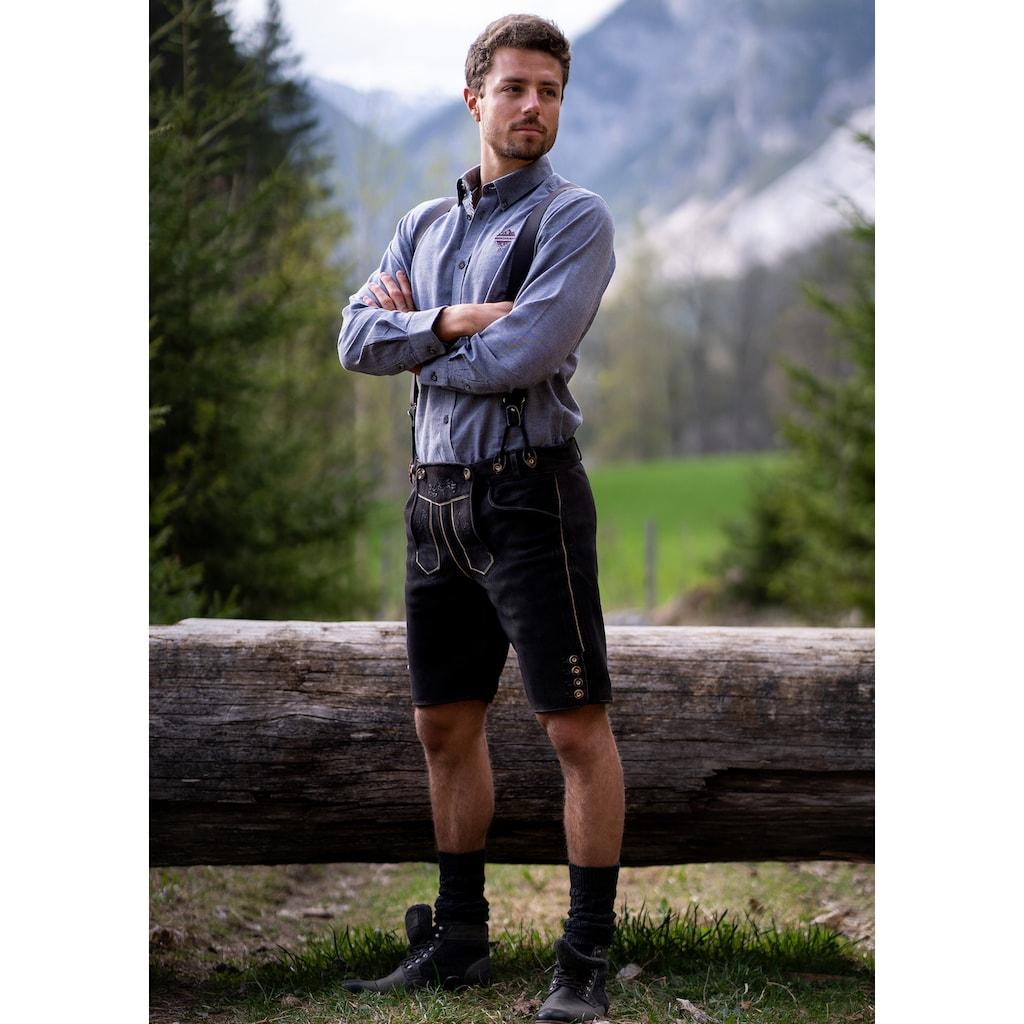 Andreas Gabalier Kollektion Trachtenlederhose, (2 tlg.), Herren mit verstellbaren Trägern