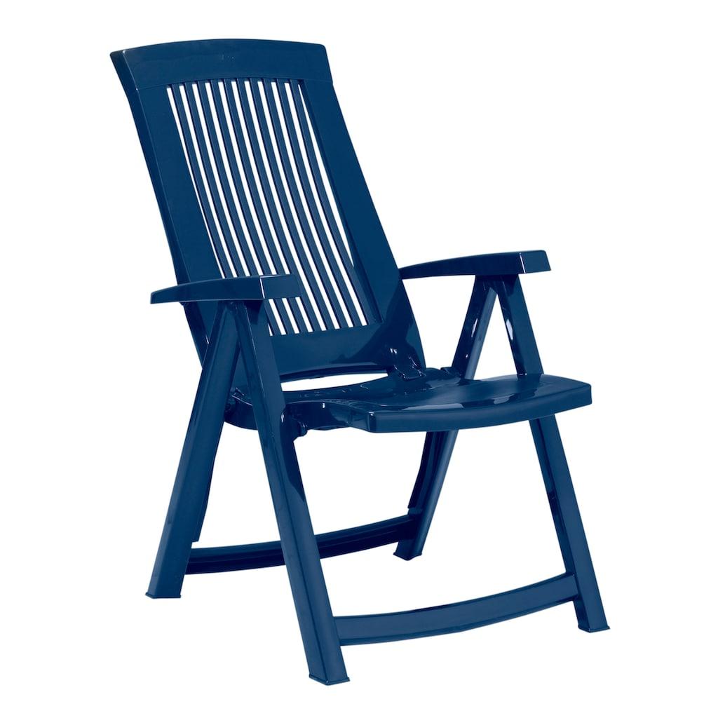 Best Gartenstuhl »Kansas«, Kunststoff, verstellbar, blau, inkl. Auflage