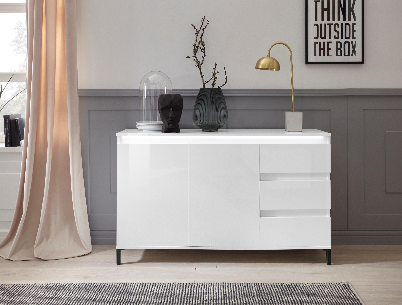 KITALY Sideboard »Genio«, Breite 138 cm, mit wendbare Blende günstig online kaufen