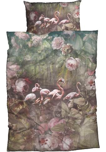 CASATEX Bettwäsche »Flamina«, zauberhafte Flamingos und Pfingstrosen kaufen