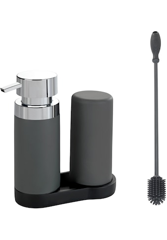 WENKO Spülmittelspender »Easy-Squeez-e«, inkl. Silikon Flaschenbürste 38cm, Polyresin kaufen