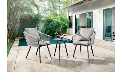 Destiny Balkonset »ROM«, 2 Sessel, 1 Tisch, pflegeleicht, hochwertige Materialien kaufen
