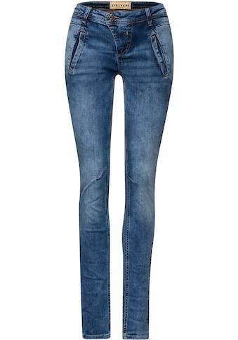 STREET ONE Skinny-fit-Jeans »Crissi«, mit asymmetrischem Verschluss kaufen
