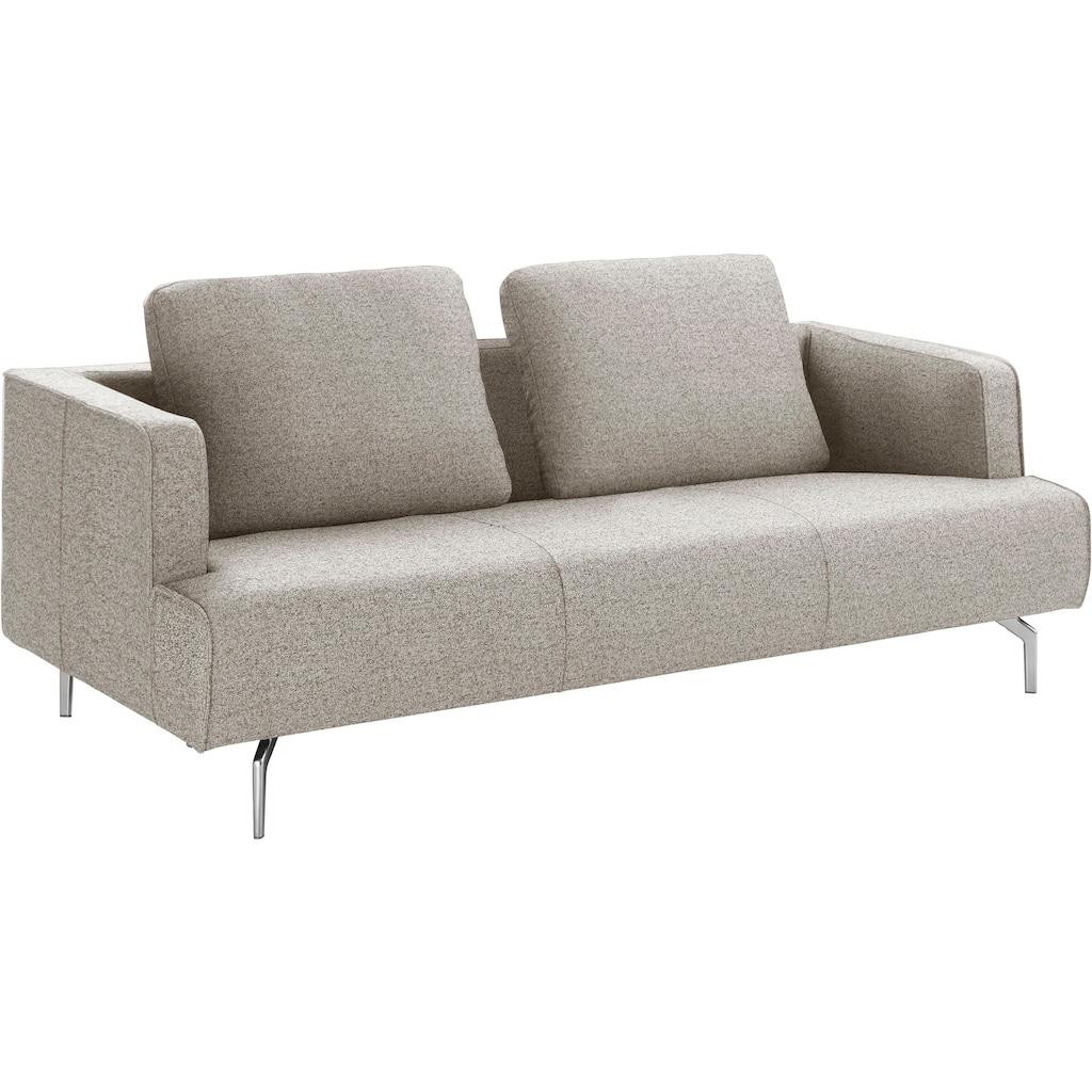 hülsta sofa 3,5-Sitzer »hs.440«, wahlweise in Stoff oder Leder, Gussfüße poliert