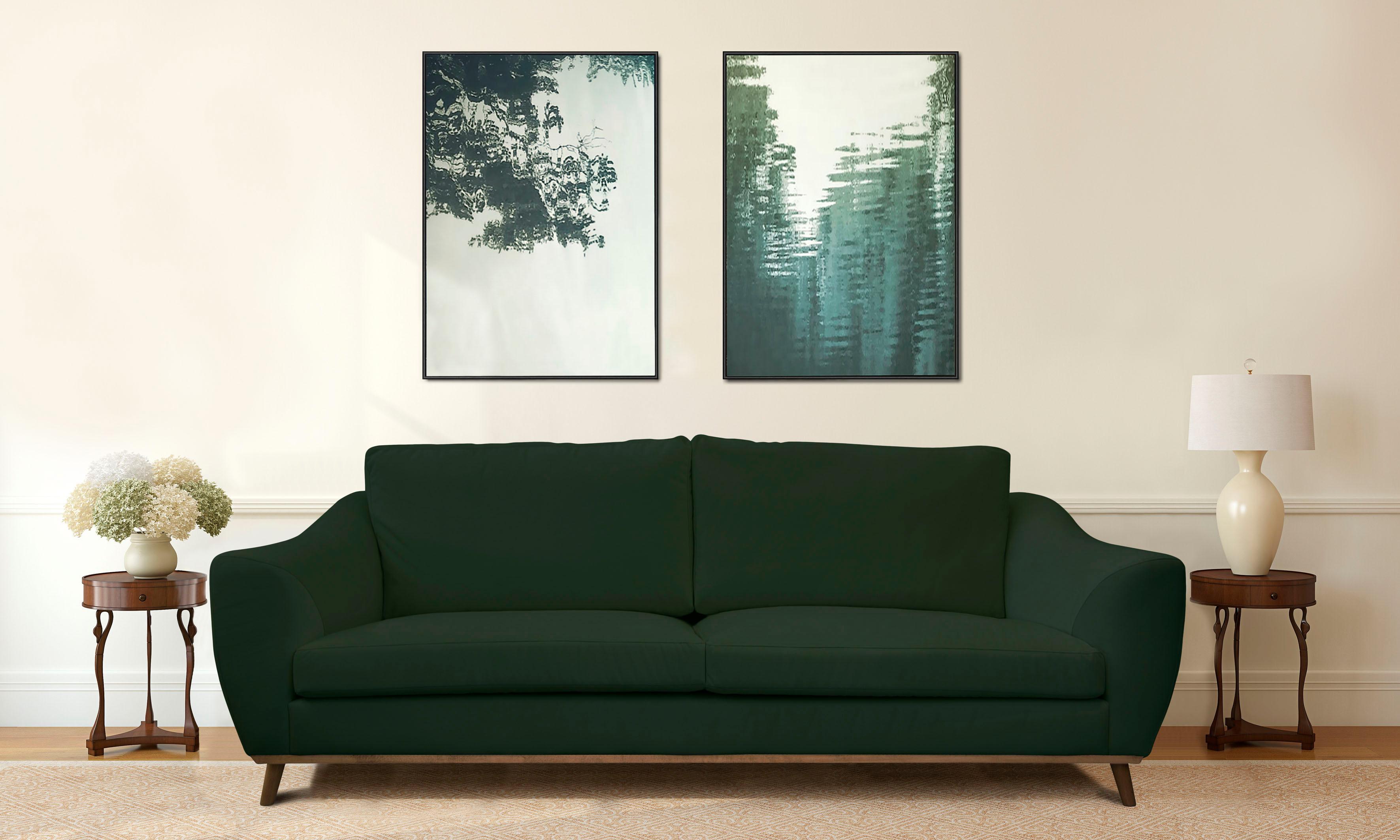 schlafsofas skandinavisches design wandmalerei schlafzimmer ideen lampe orange bettw sche mit. Black Bedroom Furniture Sets. Home Design Ideas