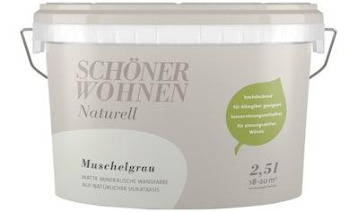 SCHÖNER WOHNEN-Kollektion Wand- und Deckenfarbe »Naturell Muschelgrau«, 2,5 l kaufen