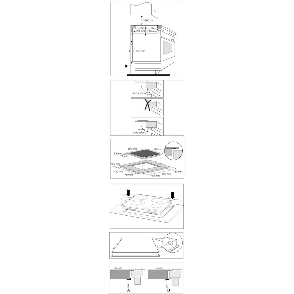 Hanseatic Elektro-Kochfeld von SCHOTT CERAN®, MC-HF662B, mit Timer