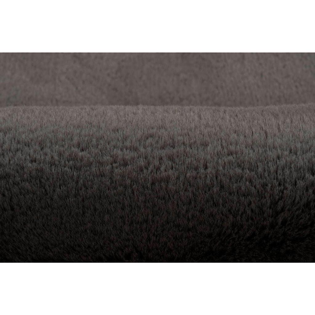 LALEE Hochflor-Teppich »Cosy Fell 500«, fellförmig, 27 mm Höhe, Fellform