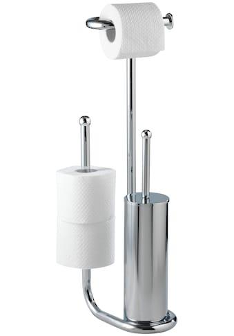 WENKO WC-Garnitur »Universalo«, integrierter Toilettenpapierhalter und WC-Bürstenhalter kaufen