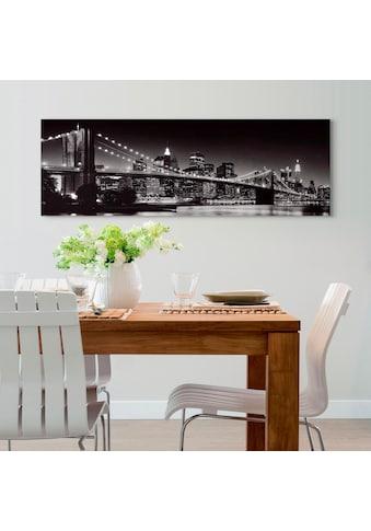 Reinders! Holzbild »Deco Panel 52x156 New York - brooklyn bridge« kaufen