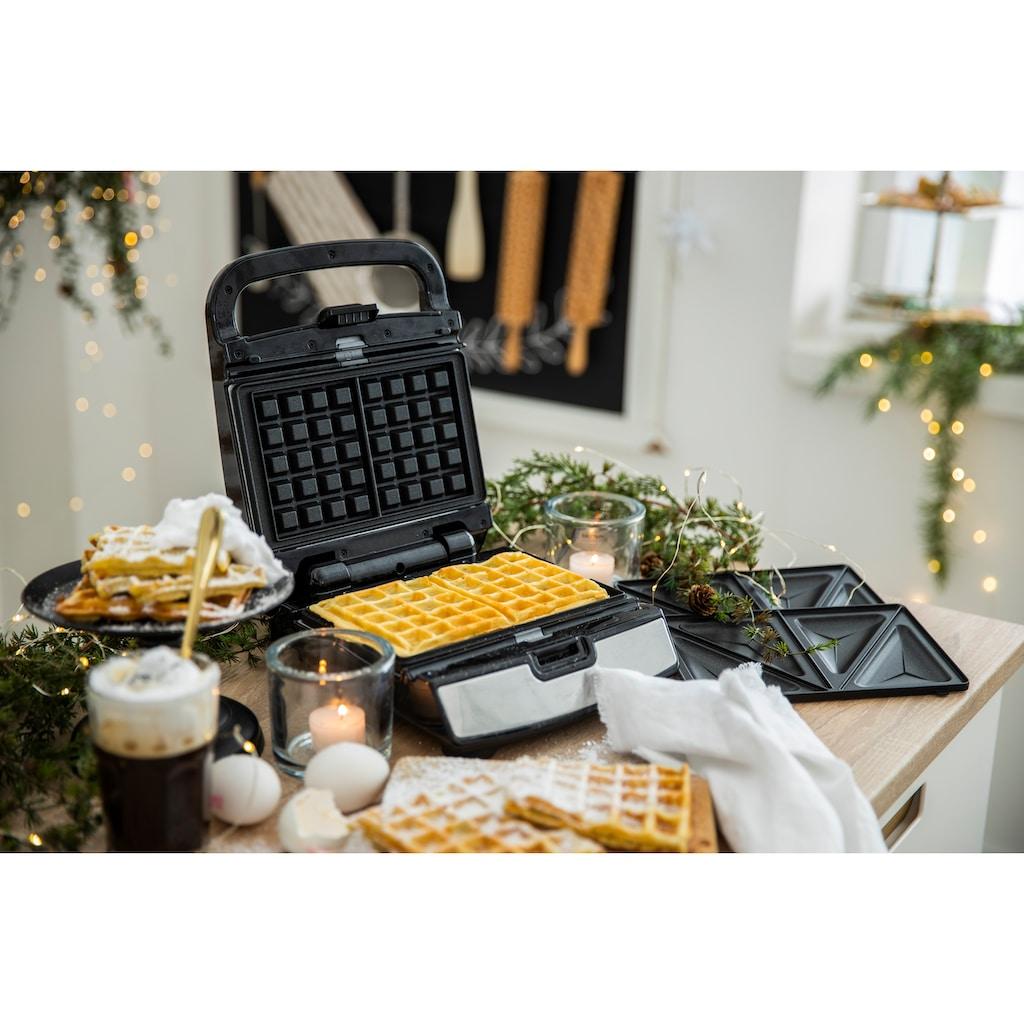 Tefal 2-in-1-Kombi-Waffeleisen »Snack Collection SW852D«, 700 W, Sandwich- und Waffelmaker, Antihaftbeschichte Platten, Spülmaschinengeeignet, Mit vielfältigen Funktionen erweiterbar