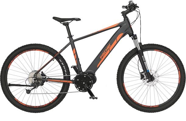 E-Bike in Schwarz und Orange