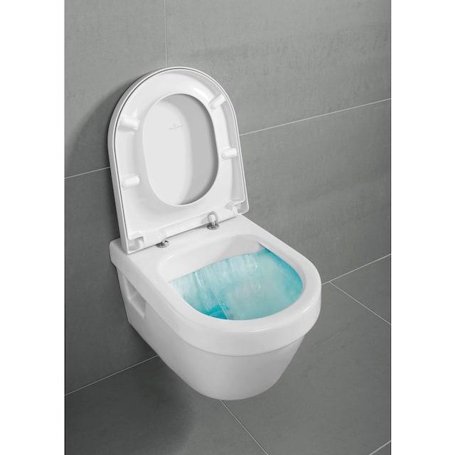VILLEROY & BOCH Tiefspül-WC »Architectura«, Combi-Pack, wandhängend mit DirectFlush, Weiß Alpin