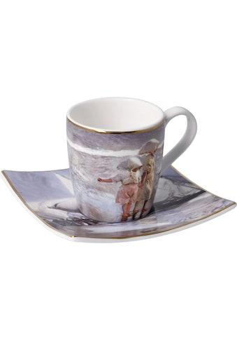 "Goebel Espressotasse »Joaquin Sorolla - ""Schwestern am Strand""«, 100 ml kaufen"