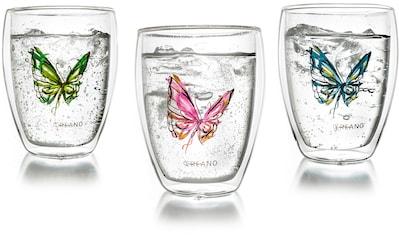 Creano Thermoglas »Colourfly«, (Set, 3 tlg.), mit Schwebe-Effekt, 3-teilig kaufen