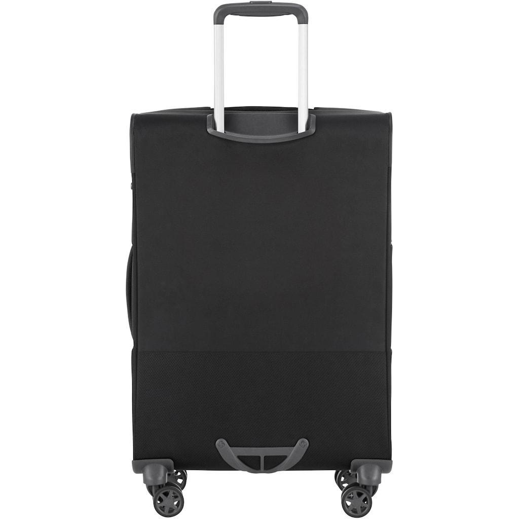 Samsonite Weichgepäck-Trolley »Popsoda, 66 cm, black«, 4 Rollen